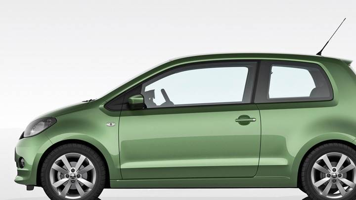 Side Pose Of 2012 SKODA Citigo In Green