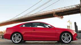 Side Pose Of Audi S5 In Red