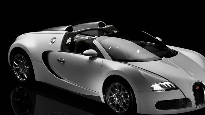 Side Pose Of Bugatti Veyron 16.4 Grand Sport N Black Background