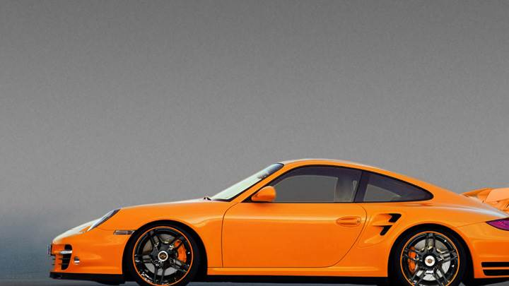 Side Pose Of Porsche 9ff DR640 In Orange