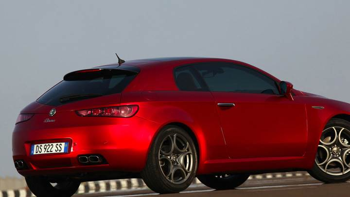 Side Pose of 2009 Alfa Romeo Brera In Red