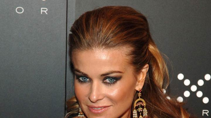Smiling Face Closeup Of Carmen Electra And Blue Eyes