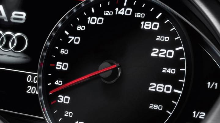 Speed-O-Meter Closeup Of 2011 Audi A8