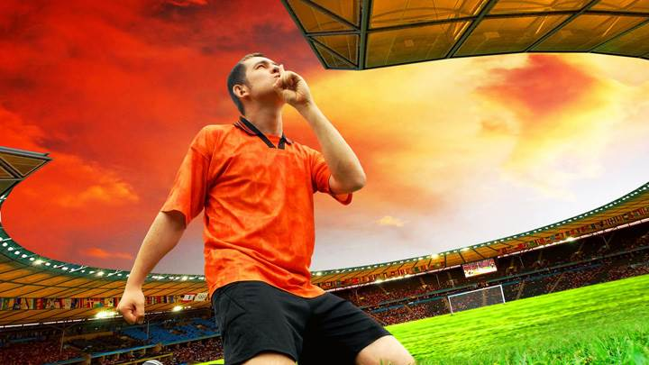Sshhhh FIFA 2010 Man In Orange Shirt