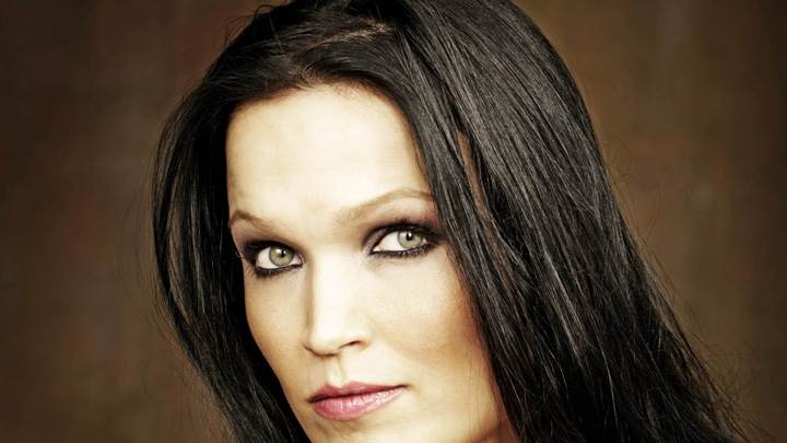 Tarja Turunen Side Face Closeup N Brown Background
