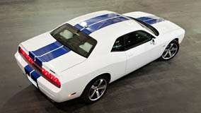 Top View Of 2011 Dodge Challenger SRT8 in White