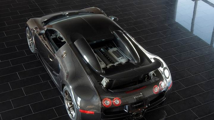 Top View Of Linea Vincero Bugatti Veyron 16.4 In Black
