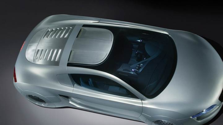 Top View of 2004 Audi RSQ Sport Coupe Concept In Silver