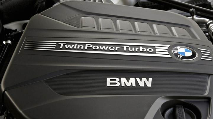 TwinPower Turbo Engine Closeup Of BMW 6 Series Coupe