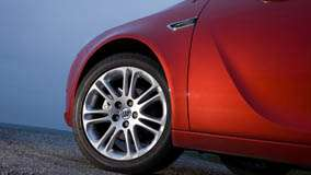 Tyre Closeup Of 2008 Buick Regal 2.0 Turbo In Red