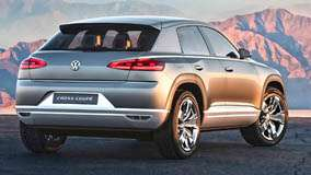 Volkswagen Cross Coupe Concept Back Side Pose In Grey