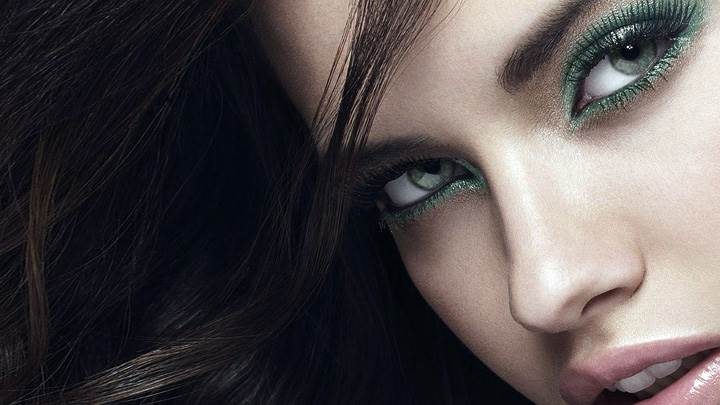 Adriana Lima Pink Lips N Cute Eyes Face Closeup