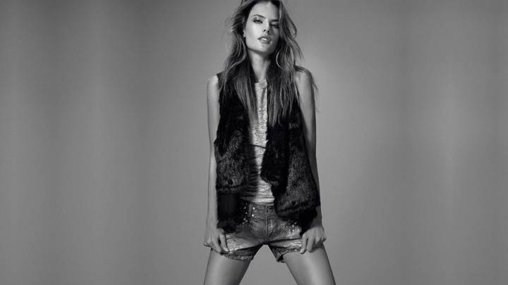 Alessandra Ambrosio Black And White Photoshoot