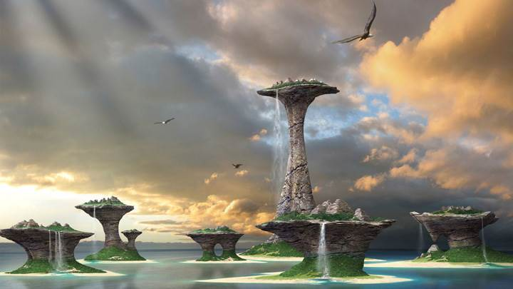Beautiful Scene Of Fantasy Island Cities
