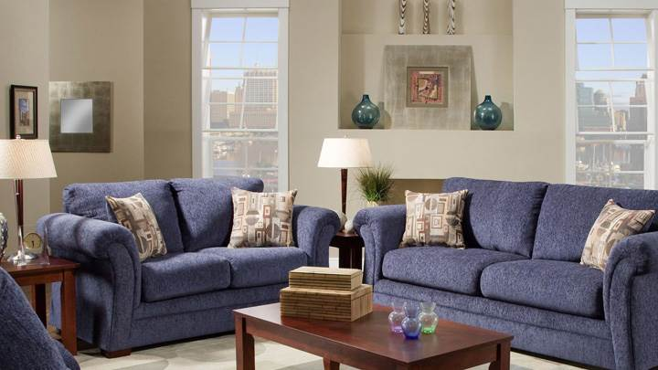 Blue Sofa Set in Apartment
