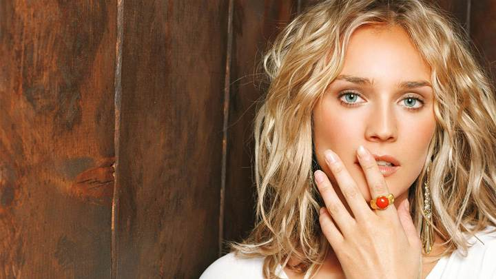 Diane Kruger Blue Eyes N Red Stone Ring In Hand Photoshoot