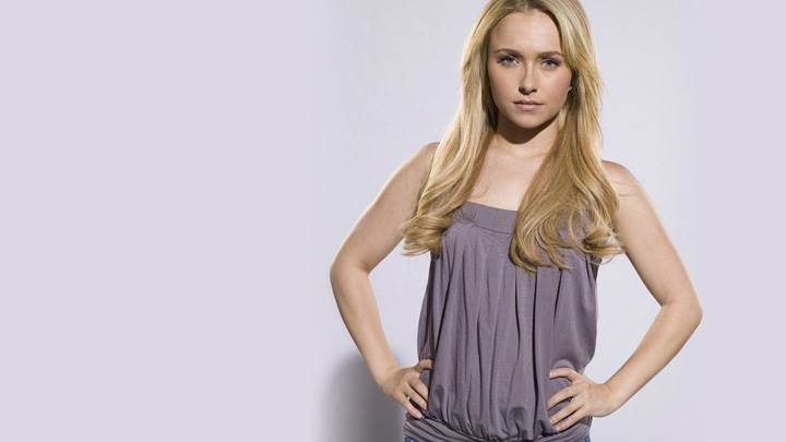 Hayden Panettiere In Grey Top N Blue Jeans Modeling Pose Photoshoot