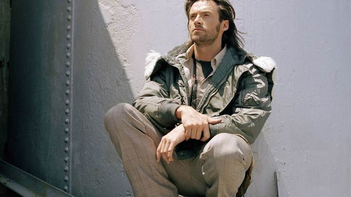 Hugh Jackman Sitting Pose Photoshoot