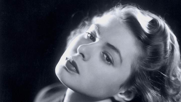 Ingrid Bergman Black N White Lazy Face Closeup