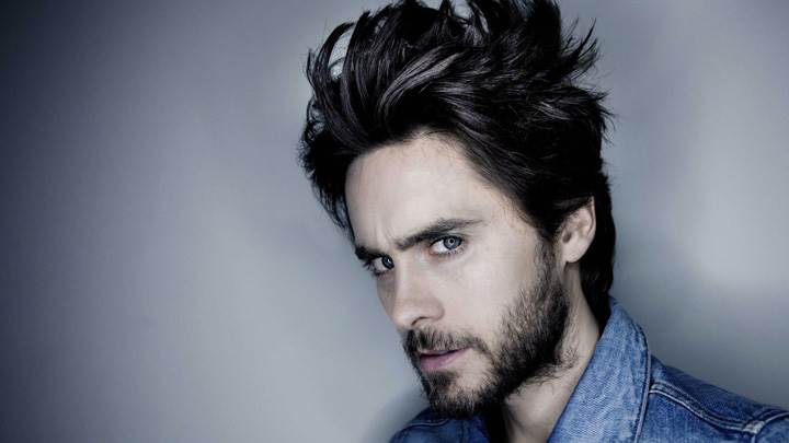 Jared Leto Side Pose In Blue Jacket Photoshoot