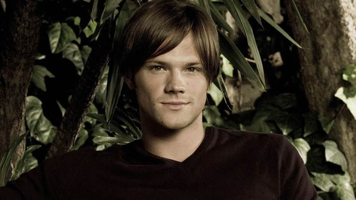 Jared Padalecki Smiling Looking Front Pose In Black T-Shirt