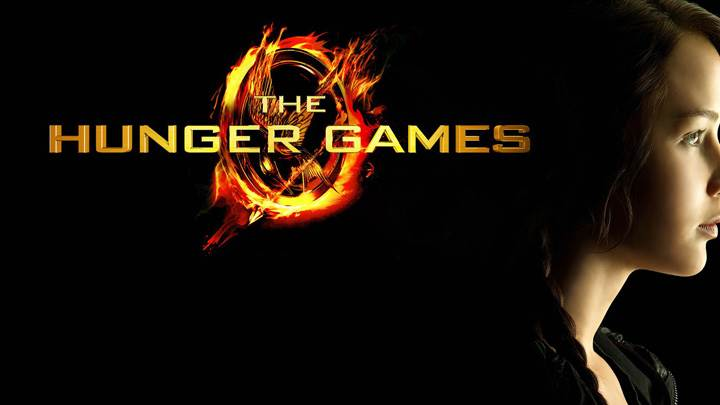 Jennifer Lawrence Side Pose N Black Background In The Hunger Games