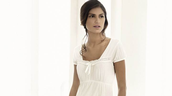 Juliana Martins In White Nightie Photoshoot