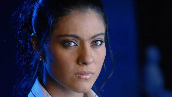 Kajol Looking At Camera Wet Lips Cute Face Closeup