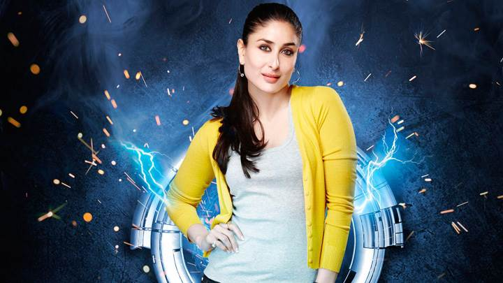 Kareena Kapoor In Yellow Top N Blue Jeans Modeling Pose Photoshoot
