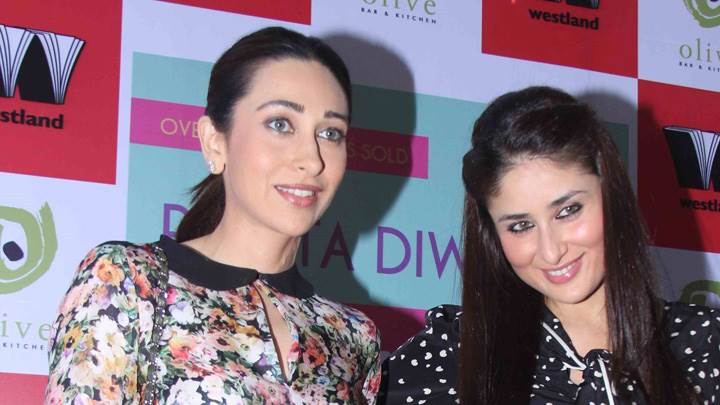 Karisma Kapoor And Kareena Kapoor Launch Rujuta Diwekars Book