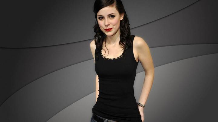 Lena Meyer-Landrut Smiling In Red Lips Black Top N Blue Jeans