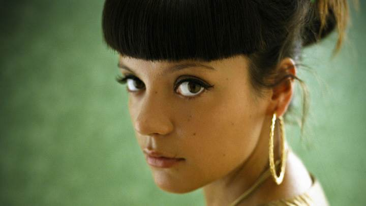 Lily Allen Looking At Camera Side Face Closeup