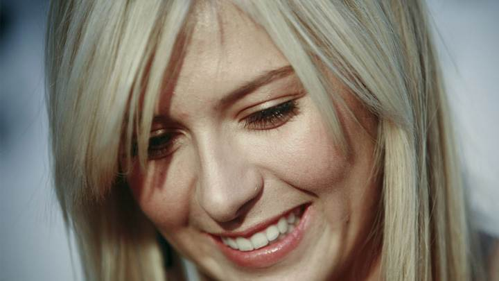 Maria Sharapova Smiling Red Lips Blushing Face Closeup