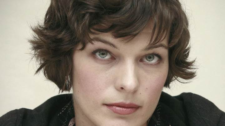 Milla Jovovich Cute Eyes Looking Front Face Closeup