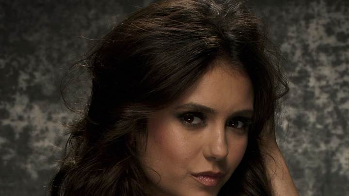 Nina Dobrev Glossy Lips Innocent Side Face Closeup