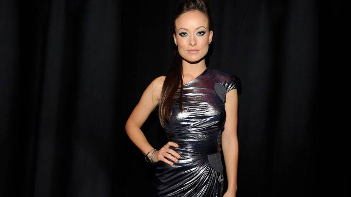 Olivia Wilde in Black Dress Modeling Pose Photoshoot