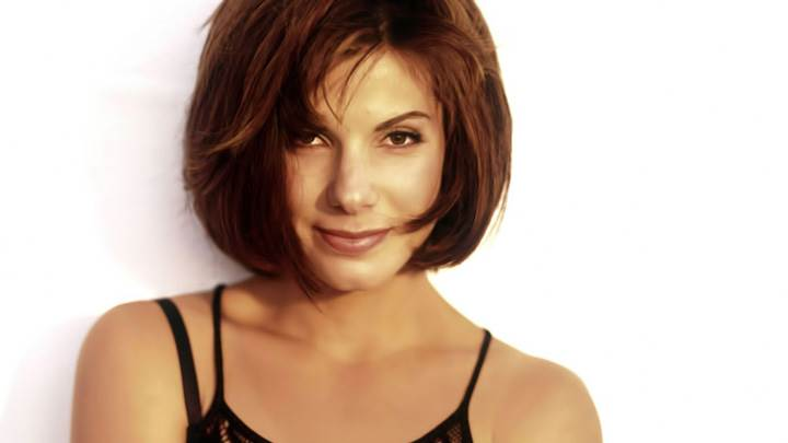 Sandra Bullock Smiling Looking Front N White Background