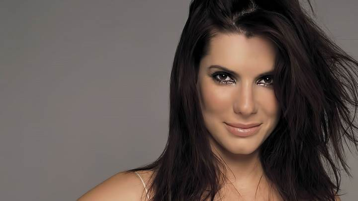 Sandra Bullock Smiling Wet Lips Looking Front Photoshoot