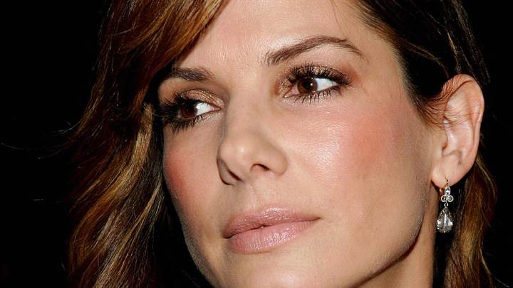 Sandra Bullock Wet Lips N Shine Face Closeup