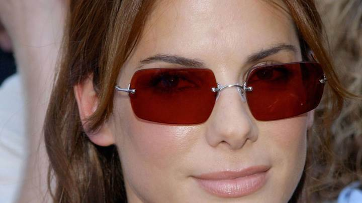 Sandra Bullock Wet Lips N Wearing Goggles Cute Face Closeup