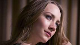 Saoirse Ronan Blue Eyes N Pink Lips Side Face Closeup