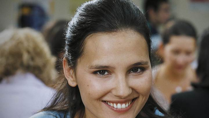 Smiling Face Closeup Of Virginie Ledoyen