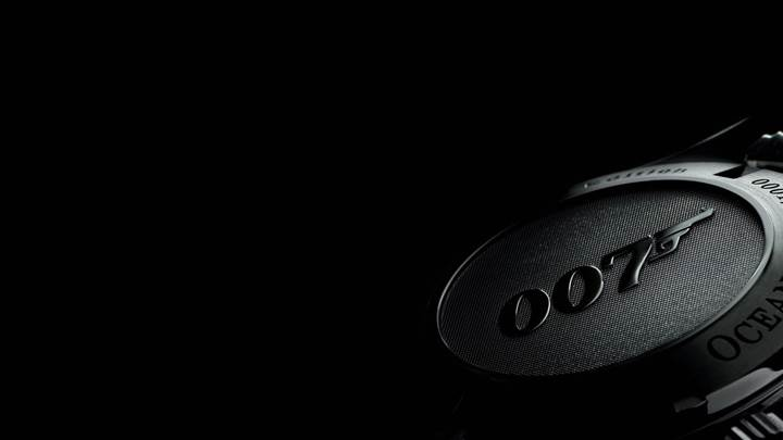 007 Wrist Watch N Black Background