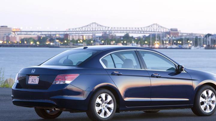 2008 Honda Accord EX-L Sedan In Black Side Pose