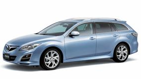 2008 Mazda 6 Wagon In Blue Side Pose