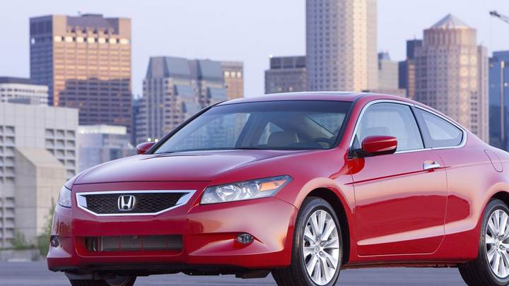 2009 Honda Accord EX-L V6 In Red Front Side Pose