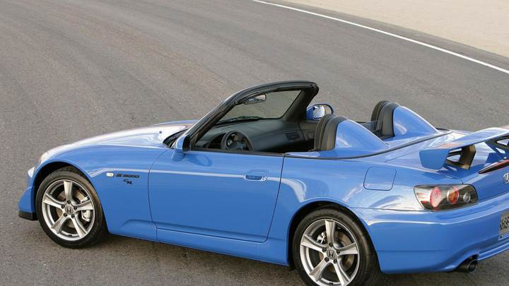2009 Honda S2000 CR In Blue On Road