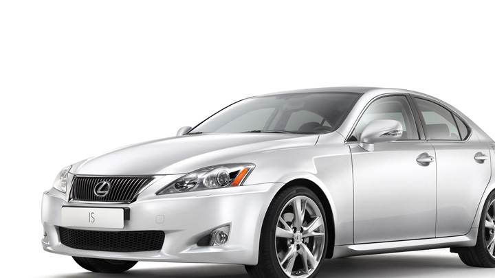 2009 Lexus IS Side Front Pose N White Background