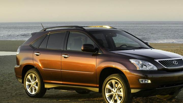 2009 Lexus RX 350 In Brown At Sea Side Photoshoot