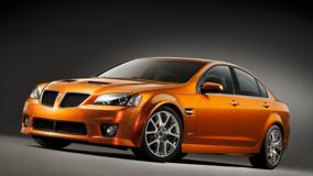 2009 Pontiac G8 Front Side Pose In Shine Orange